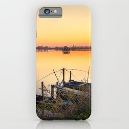 Brackish lagoon sun set over lake iPhone Case