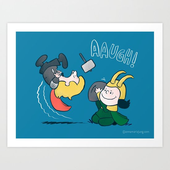 Loki's nuts Art Print