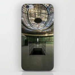 Art Deco Control Room inside of an abandoned power station iPhone Skin