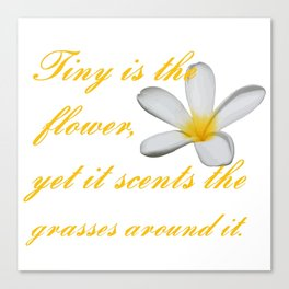Tiny Is The Flower, Yet It Scents The Grasses Around It Canvas Print