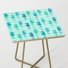 AFE Mint Seahorse Pattern Side Table