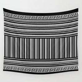 Greek Key - Barcode Wall Tapestry