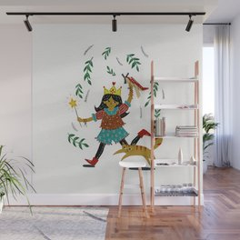 Star Powered Airplanes Wall Mural