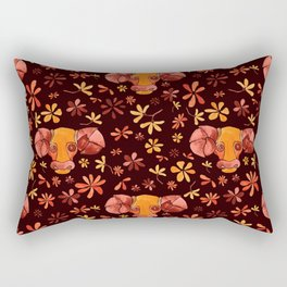Bold Aries flower pattern Rectangular Pillow