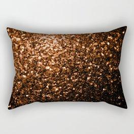 Beautiful Bronze Orange Brown glitters sparkles Rectangular Pillow