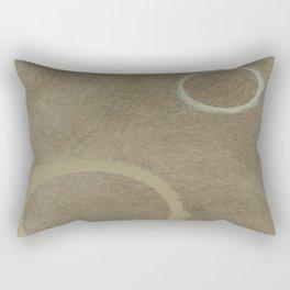 Two Circles - Modern Art - Abstract - Fine Art - California Cool - Popular Painterly Rectangular Pillow