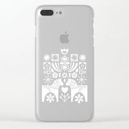 Swedish Folk Art - Subtle Clear iPhone Case