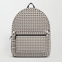 3D Zigzag, Chevron Horizontal Line Pantone Hazelnut Backpack