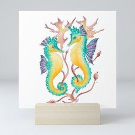 Seahorses In The Seaweed Mini Art Print