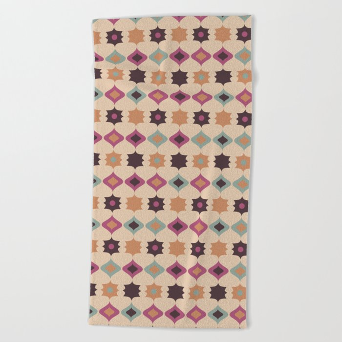 Retro pattern . Pastel . Beach Towel
