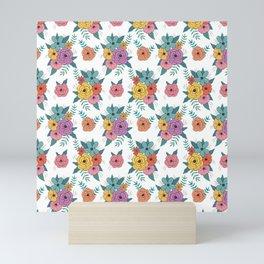 Gouache floral Mini Art Print