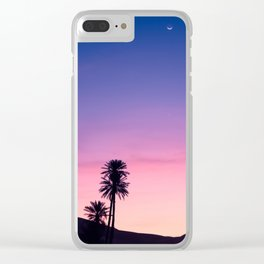 Sunrise Moon and Star over the Moroccan Desert Clear iPhone Case