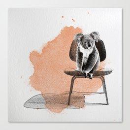 Koala on eames chair Canvas Print