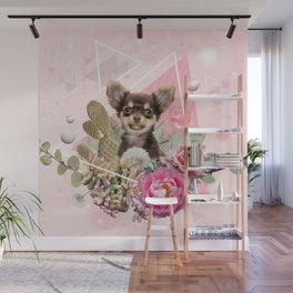 Eclectic Geometrical Chihuahua Wall Mural