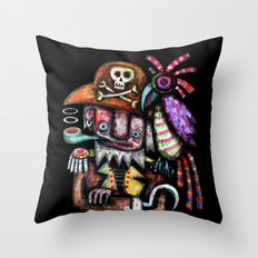 Old Pirate Throw Pillow