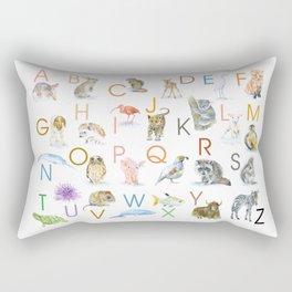 Animal Alphabet ABCs Poster Rectangular Pillow