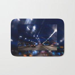 Cars motion street night lights Bath Mat