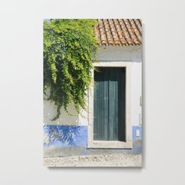 House in Obidos, Portugal Metal Print