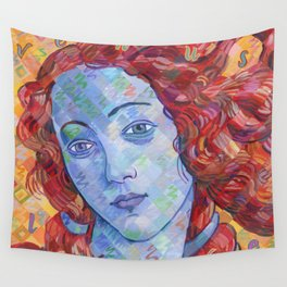 Variations On Botticelli's Venus - No. 3 (Primary Colors) Wall Tapestry