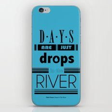 Drops In The River iPhone & iPod Skin
