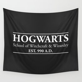 Hogwarts School of Witchcraft & Wizardry (Black) Wall Tapestry