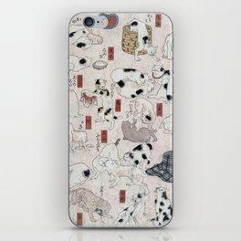 Cats for the 53 stations of the Tokaido - Utagawa Kuniyoshi, (1847) iPhone Skin