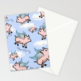 When Pigs Fly 2 Stationery Cards