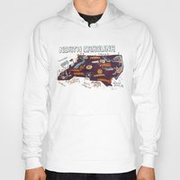north carolina Hoodies featuring NORTH CAROLINA by Christiane Engel