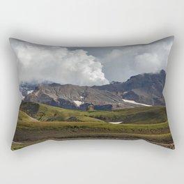 Autumn view of active volcano on Kamchatka Peninsula Rectangular Pillow