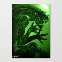 xenomorph Canvas Prints featuring Xenomorph by Mstap