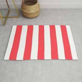 Sunburnt Cyclops pink - solid color - white vertical lines pattern Rug