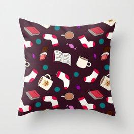 Winter Snuggles Throw Pillow