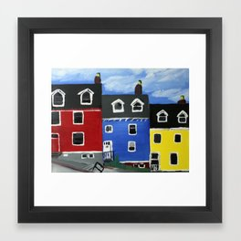 Newfoundland Houses Canada acrylics on canvas Framed Art Print