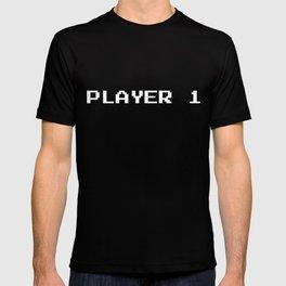 Player 1 GAME START T-shirt