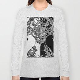 Unity of Halves - Life Tree - Rebirth - White Black Long Sleeve T-shirt