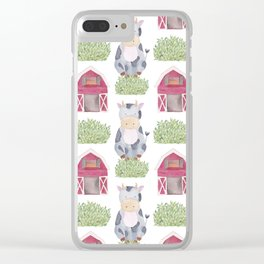 Farm Pattern Clear iPhone Case