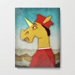 Federico Da Unicornio Metal Print