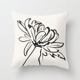 sketch art flower Throw Pillow