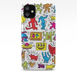 Sketches homage to Keith Haring iPhone Case