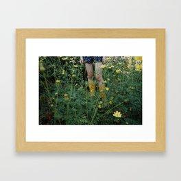 Green farmer Framed Art Print