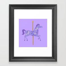 Mary Poppins horse Framed Art Print