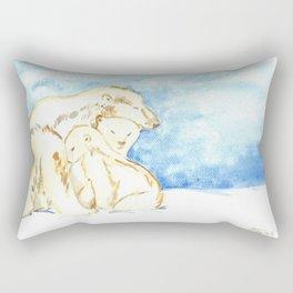 Polar Bear Family Rectangular Pillow