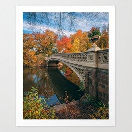 Bow Bridge Autumn 05 Art Print