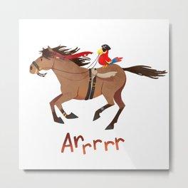 Racehorses - arrrrr Metal Print