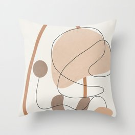 Abstract Line Movement III Throw Pillow