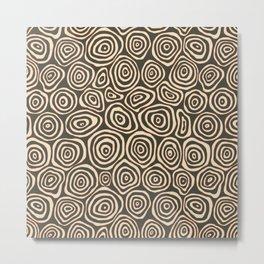 Baobab Pattern Collection Metal Print