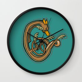 Celtic Hound Letter C 2018 Wall Clock