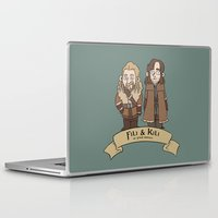kili Laptop & iPad Skins featuring Fili and Kili, at your service by Mhyin