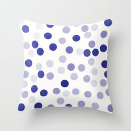 points bleus 4 Throw Pillow