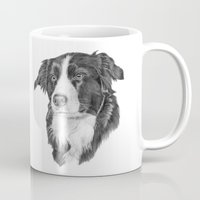 border collie Mugs featuring Border collie 2 by Doggyshop